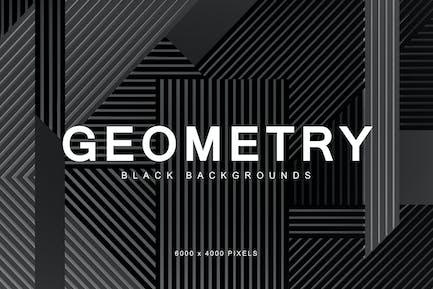 Schwarze Geometrie-Hintergründe