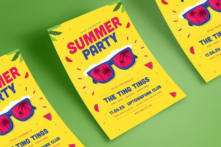 summer event flyer by guuver on envato elements
