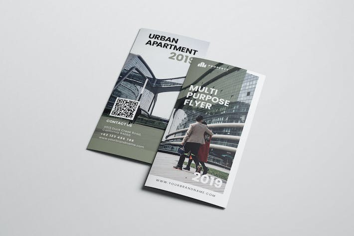 Urban Architecture AI and PSD Trifold Brochure