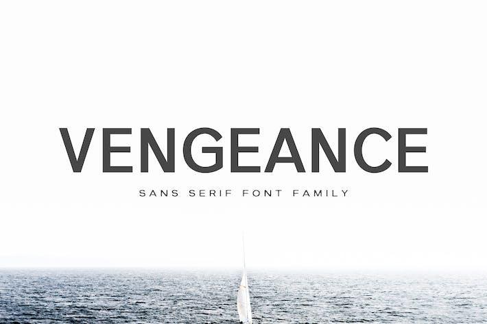 Thumbnail for Vengeance Sans Serif Font Family