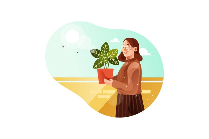 Thumbnail for Girls holding potted plants during the day
