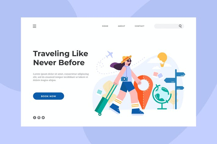 Thumbnail for Traveling Landing Page