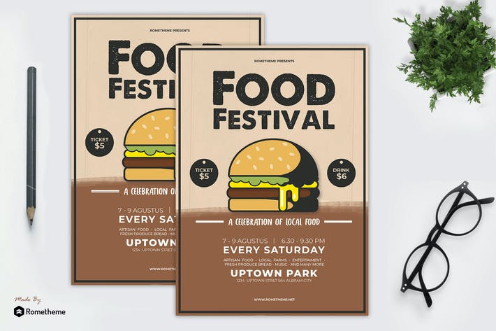 Thumbnail for Food Festival Flyer