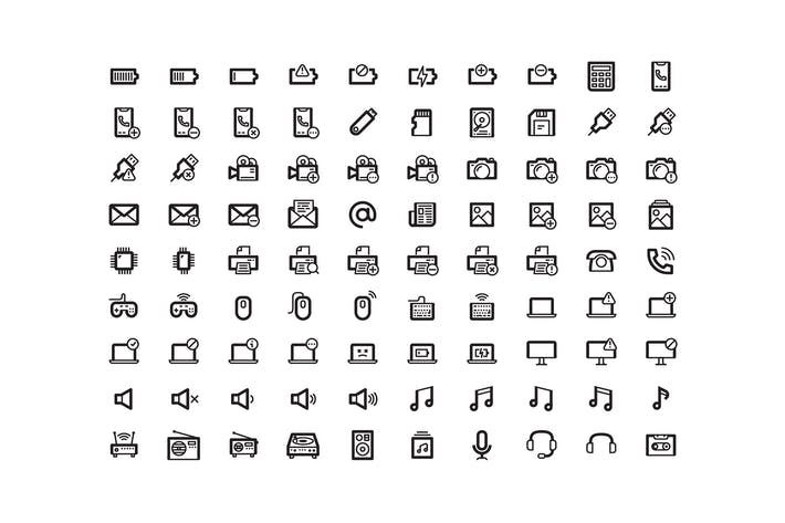 Thin Line UI Icons Pack Pixel Perfect