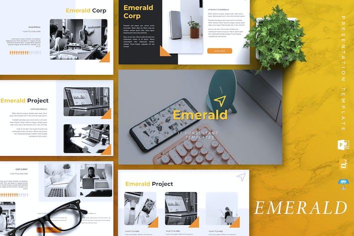 Thumbnail for EMERALD - IT Company Powerpoint/Keynote/Google Sld
