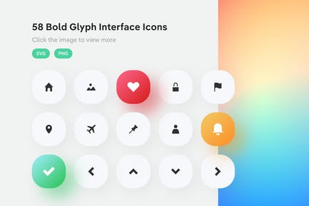 Interface Bold Glyph Icons