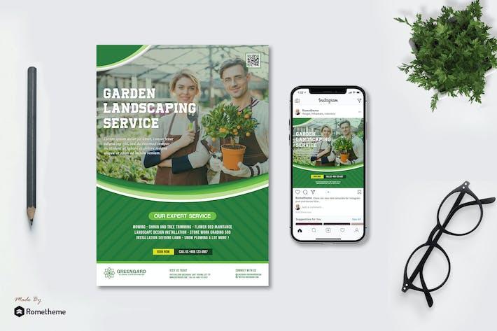 Thumbnail for Greengard - Садово-парковый флаер и Instagram Post HR