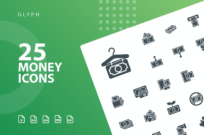 Thumbnail for Money Glyph Icons