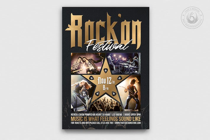 Thumbnail for Rock Festival Flyer Template V4