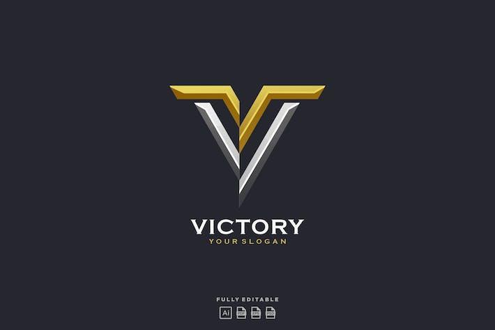 Thumbnail for Lettre Victoire V Or