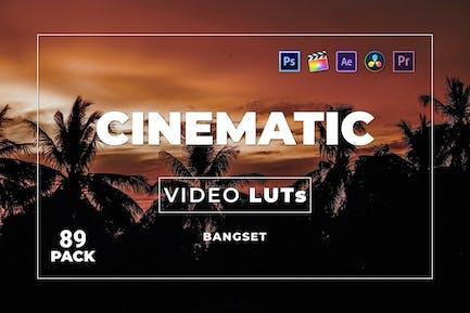 Набор Кинематографическая наборов 89 Видео LUTs