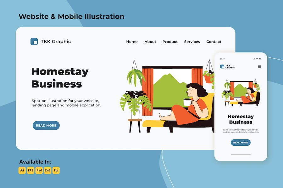 Homestay Business web and mobile