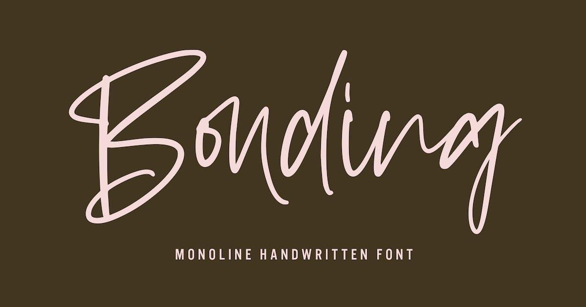 Download Bonding - Handwritten Font by arendxstudio