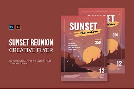 Sunset Reunion - Flyer