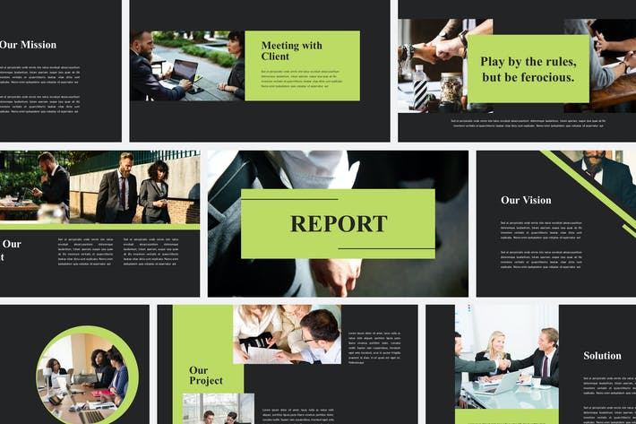 Thumbnail for Report Business - Powerpoint Templates
