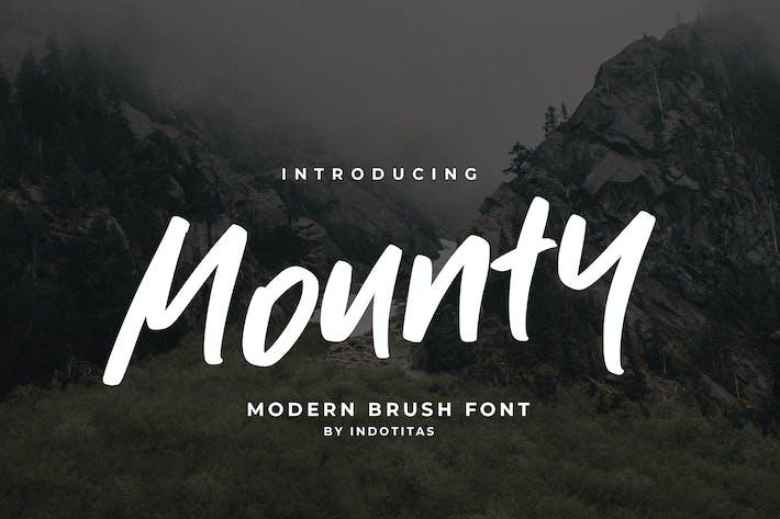 Thumbnail for Mounty Font