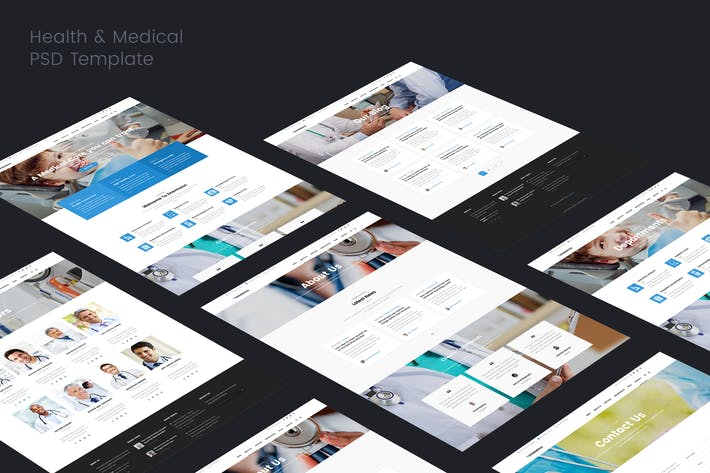 Thumbnail for Health & Medical PSD Template