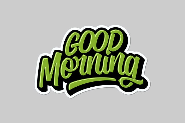 Cover Image For Good Morning Lettering