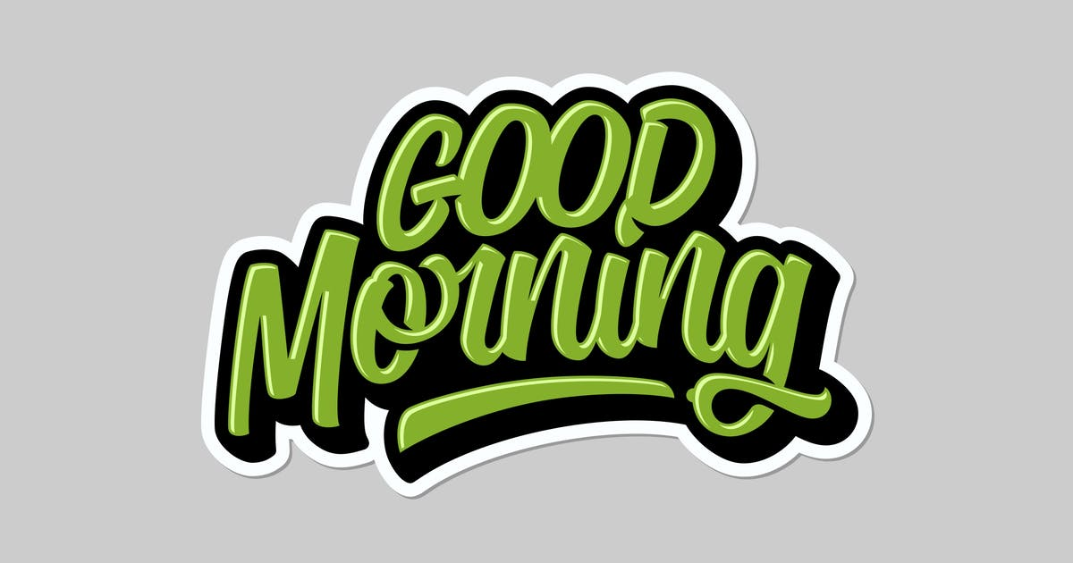 Download Good Morning Lettering by twicolabs
