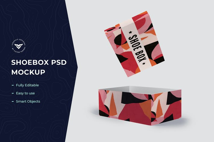Thumbnail for Shoe Box Mockup Template