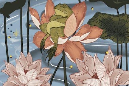Illustration - Lotus King