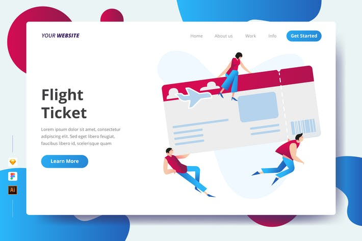 Thumbnail for Flight Ticket - Landing Page