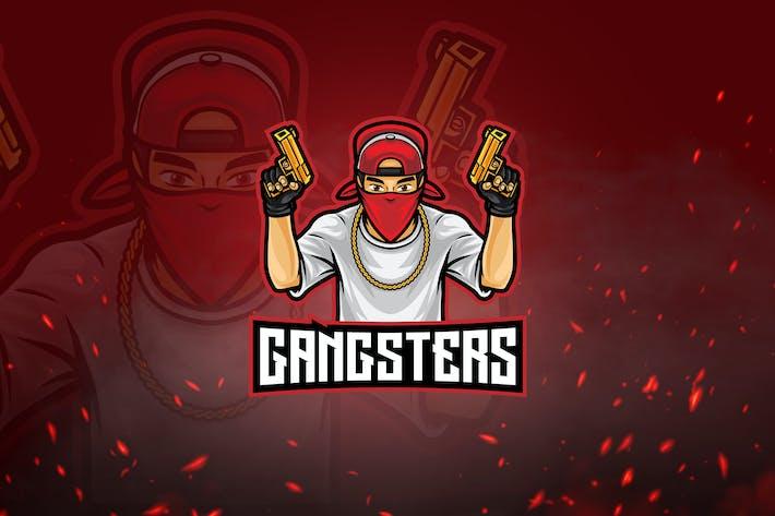 Thumbnail for Shooters Mascot & Esport Logo V3 - Gangster