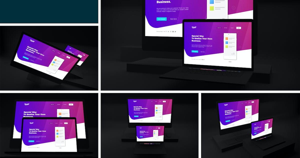 Download Dark Web Mockup by QalebStudio