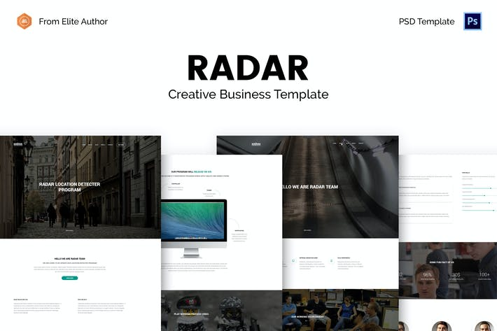 Thumbnail for Radar - Desktop Application PSD Template