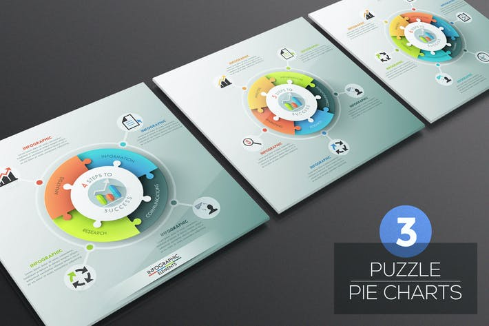 Thumbnail for Puzzle Pie Chart Infographics