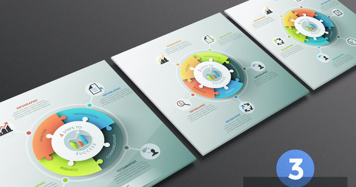 Download Puzzle Pie Chart Infographics by Andrew_Kras