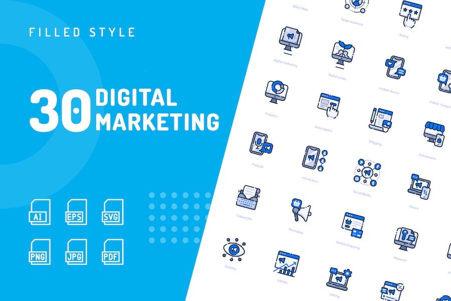 Digitale MarketingIcons