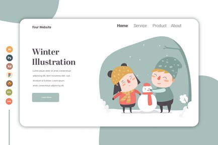 Winter vol.3 - Landing Page Template