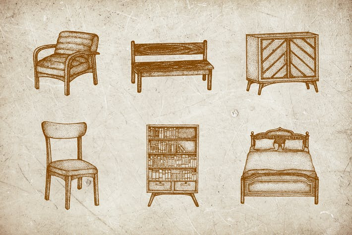 Thumbnail for Vintage Illustration - Interior V.1