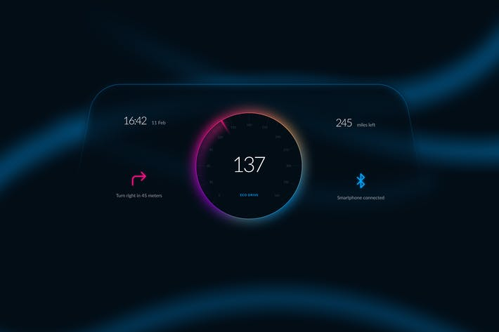 Thumbnail for Car Dashboard Interface Concept Template UI