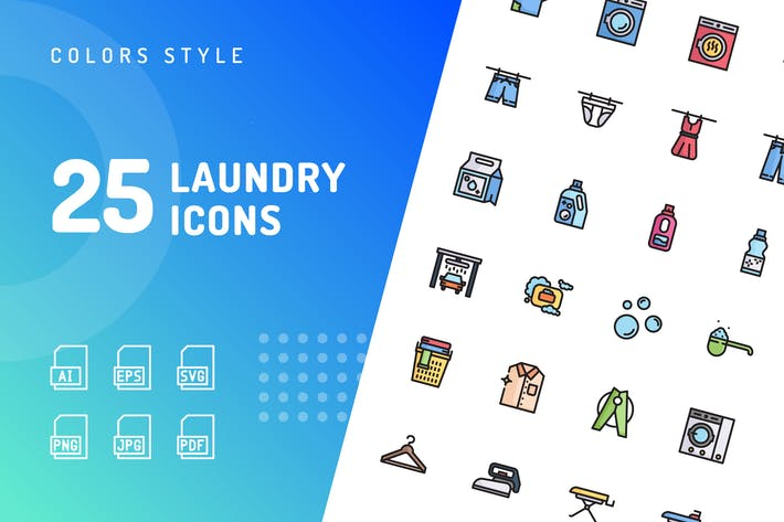 Thumbnail for Laundry Color Icons