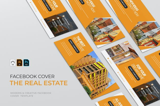 The Real Estate | Facebook Cover - product preview 0