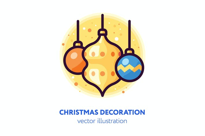 Thumbnail for Christmas decoration illustration