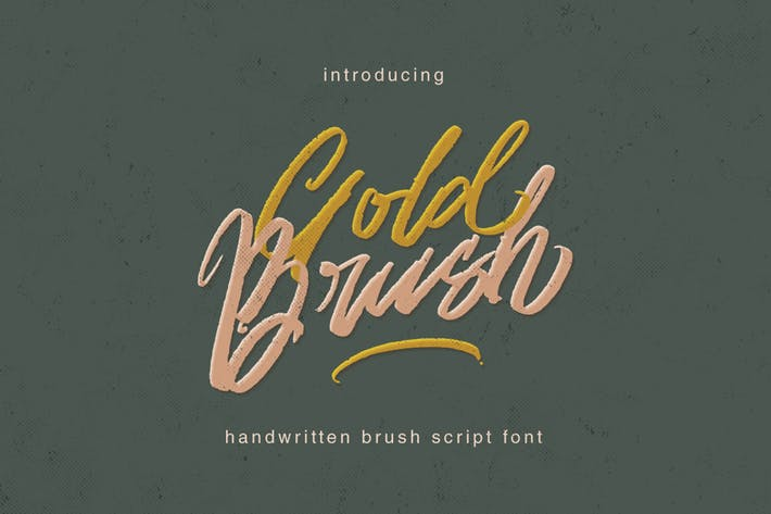 Thumbnail for Gold Brush Typeface