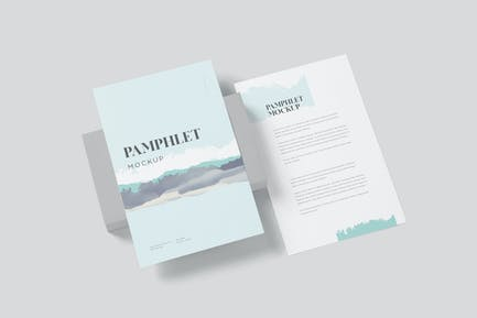 5.5 x 8.5 Inches Pamphlet Mockups