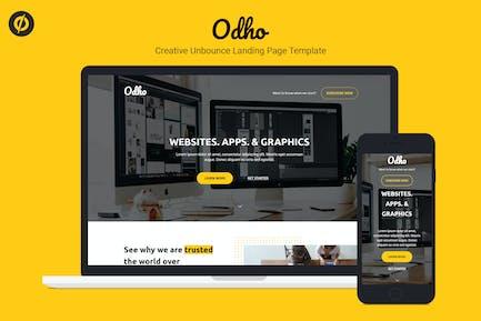 Odho — Modèle de page de destination Responsive Unbounce