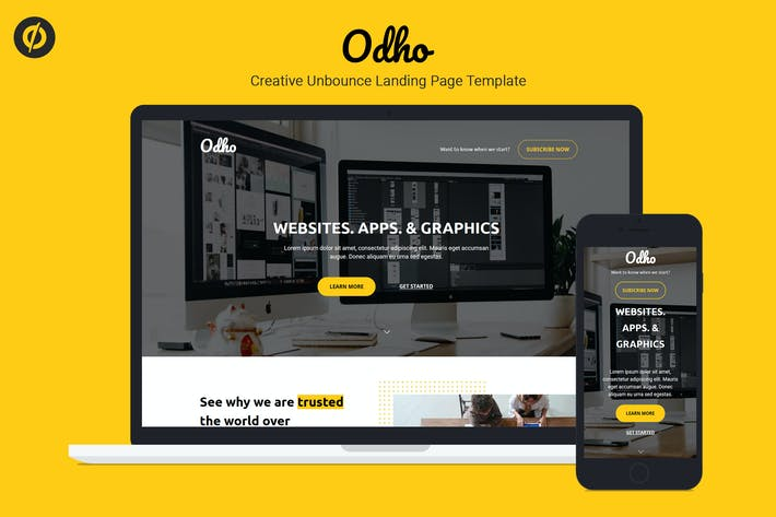 Thumbnail for Odho — Modèle de page de destination Responsive Unbounce