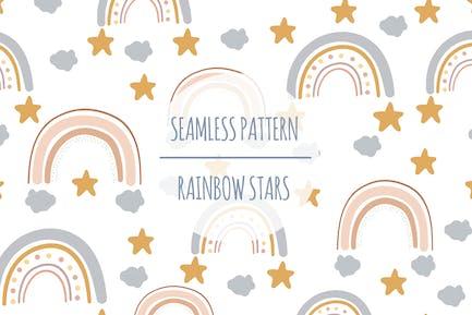 Rainbow Stars – Seamless Pattern