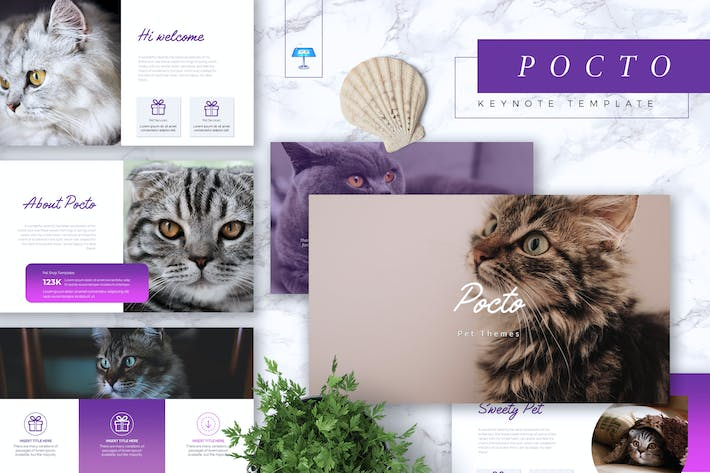 Thumbnail for POCTO - Pet Service Keynote Template