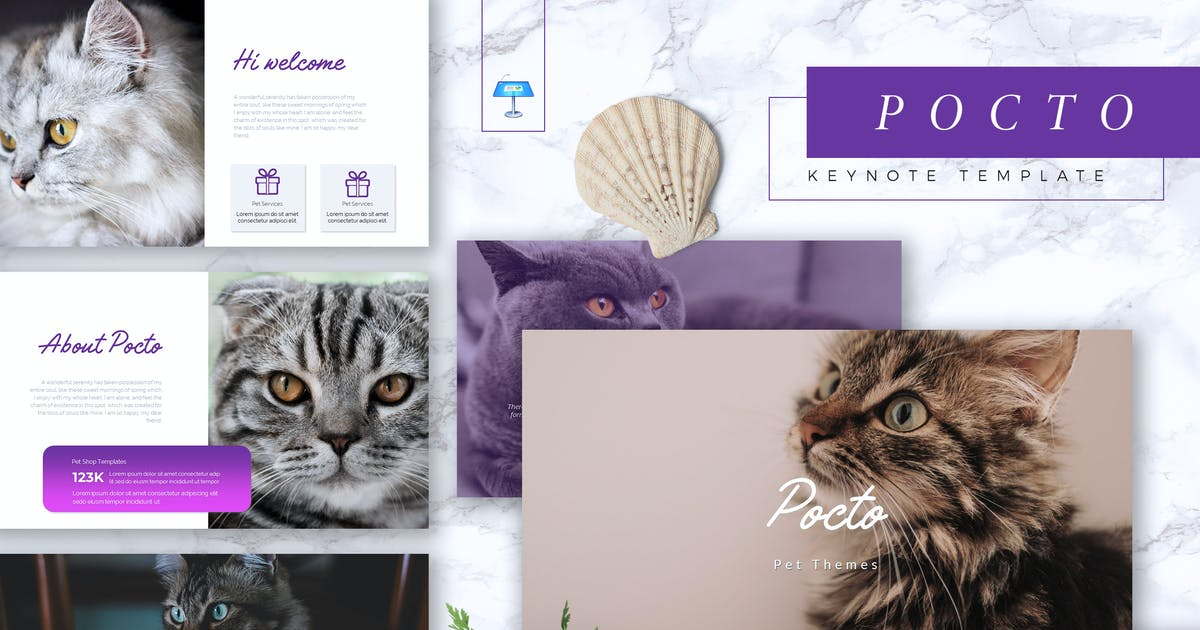 Download POCTO - Pet Service Keynote Template by RahardiCreative