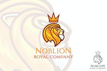 Glänzende LöwenVektor Logo Maskottchen