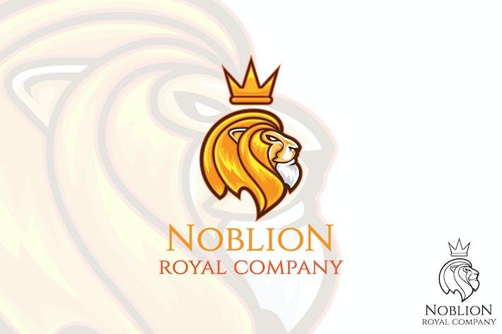 Thumbnail for Noble Lion Vector Logo Mascot