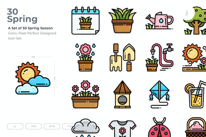 Thumbnail for 30 Spring Icons