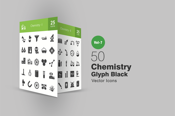 Thumbnail for 50 Chemistry Glyph Icons