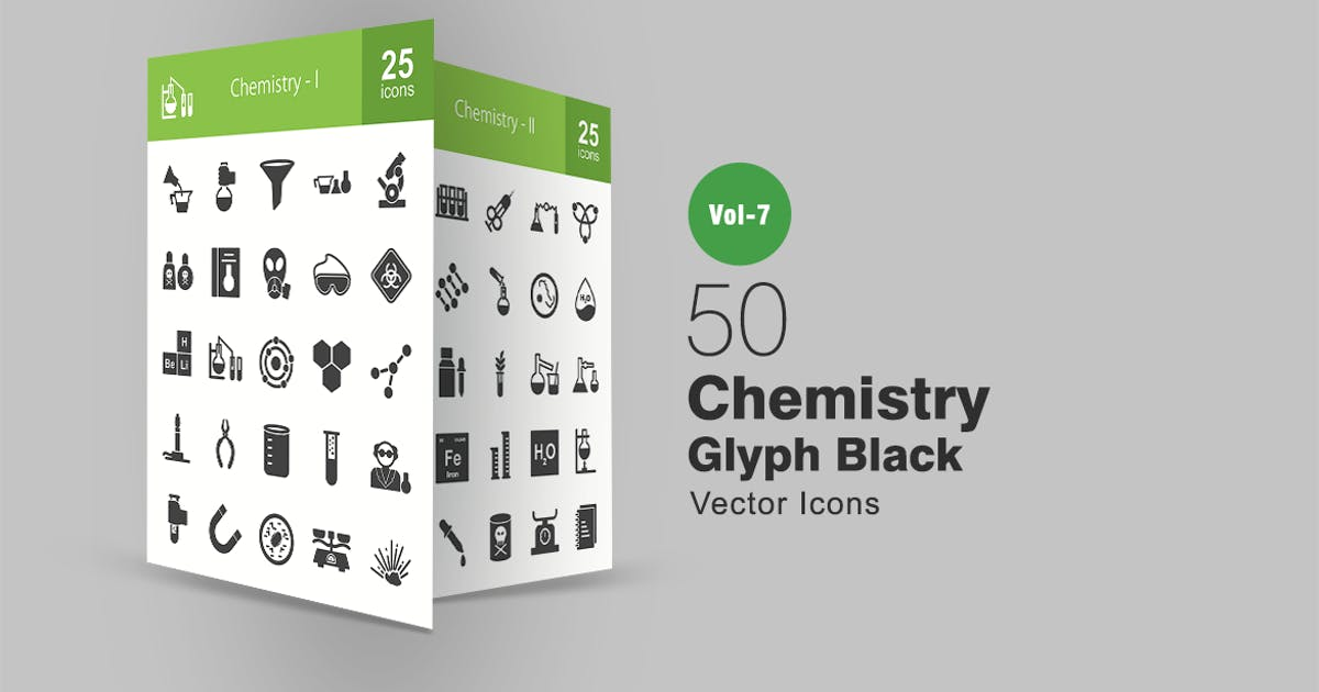 Download 50 Chemistry Glyph Icons by IconBunny
